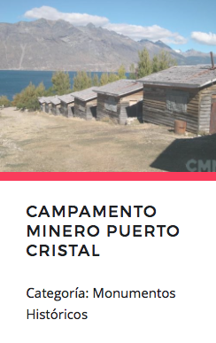 Campamento Minero Puerto Cristal. Fuente: Monumentos.cl