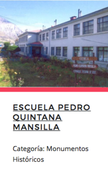Escuela Pedro Quintana Mansilla. Fuente: Monumentos.cl