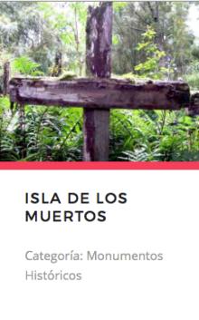 Isla de los Muertos. Fuente: Monumentos.cl
