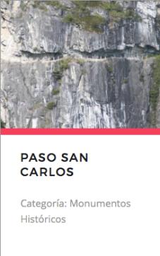 Paso San Carlos. Fuente: monumentos.cl